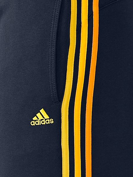 Adidas Enhanced Cuffed Sweat Pants In White For Men Blue