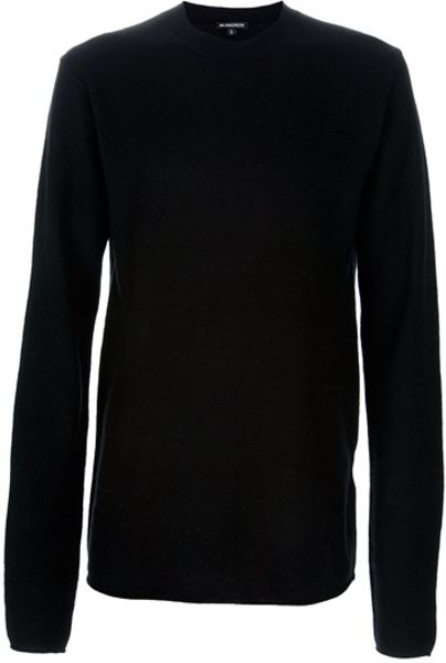 Ann Demeulemeester Crew Neck Jumper in Black for Men - Lyst