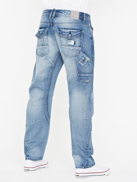 Bench Arc Fit Jeans In Blue For Men Light Wash Lyst