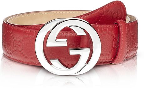Gucci Gucci Belt Red in Red for Men | Lyst
