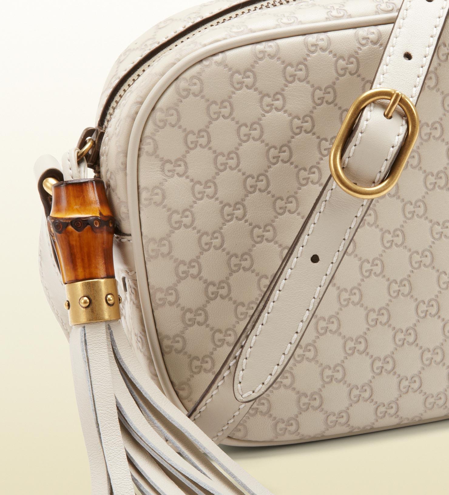 31022b9f375 Gucci Sunshine White Microguccissima Disco Bag in White - Lyst