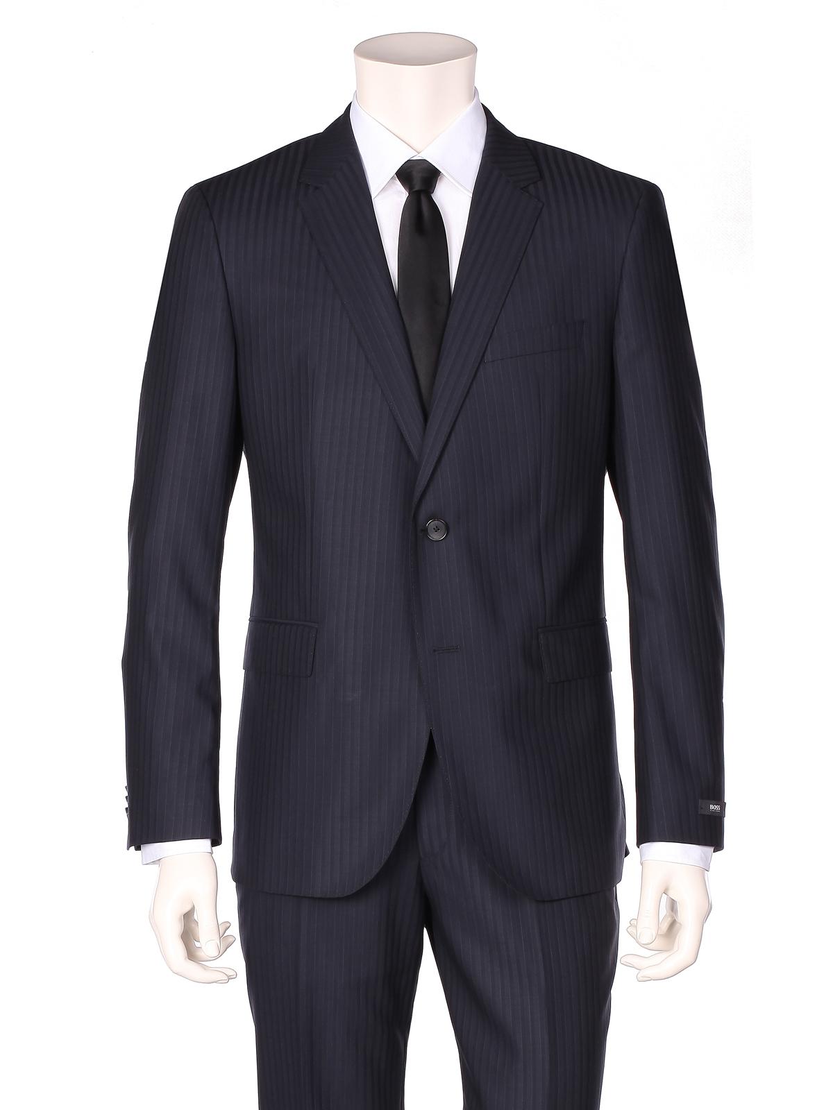 hugo boss suit dark blue in blue for men dark blue lyst. Black Bedroom Furniture Sets. Home Design Ideas