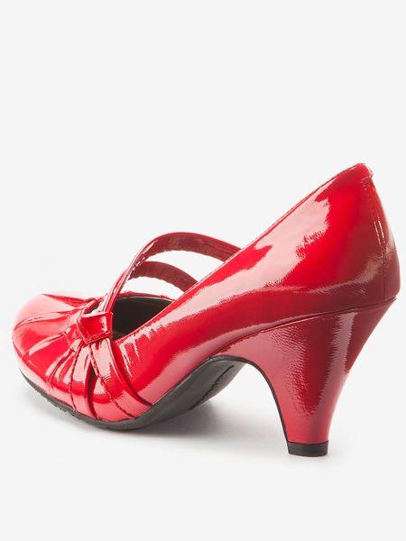 Red Suede Mary Janes Platform Heel Pump @ Amiclubwear Heel S