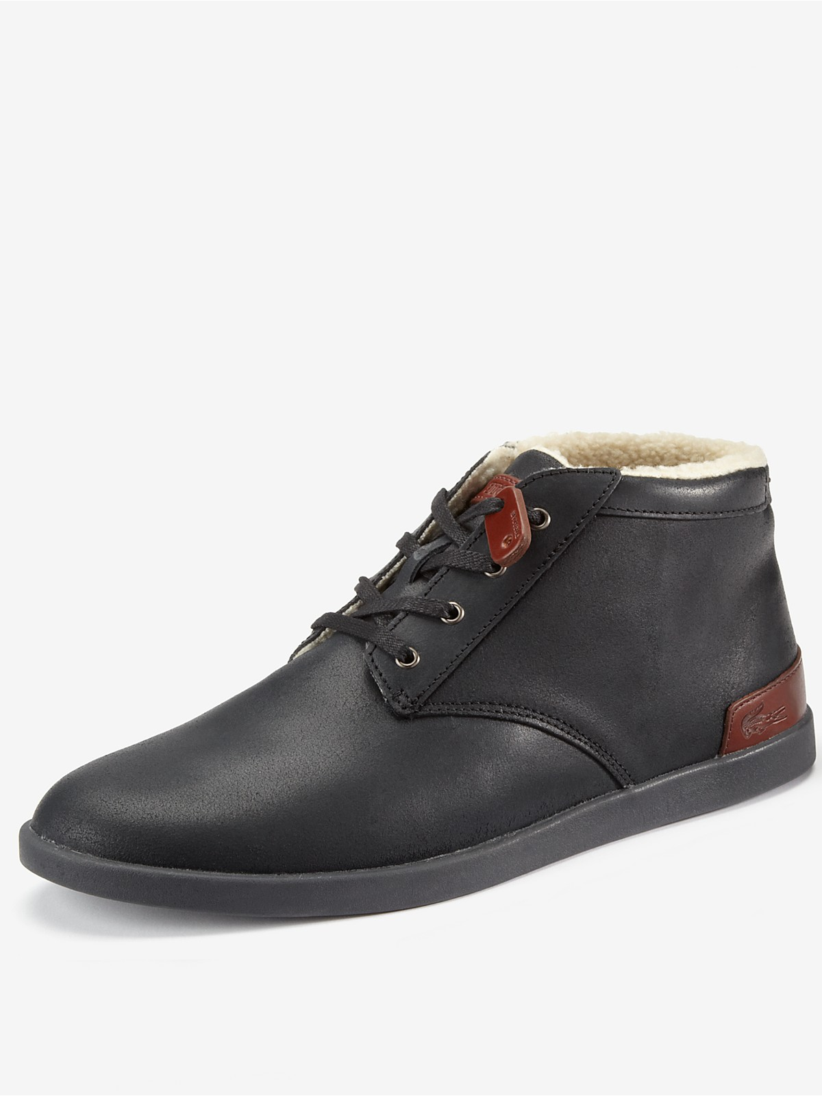 lacoste fairbrooke mens boots in black for lyst