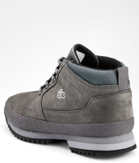 Lacoste Lacoste Upton Mens Casual Boots In Gray For Men