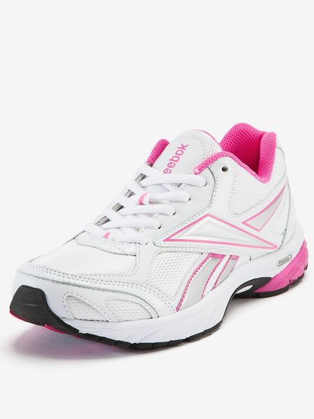 reebok reebok carthage running shoes in white white pink