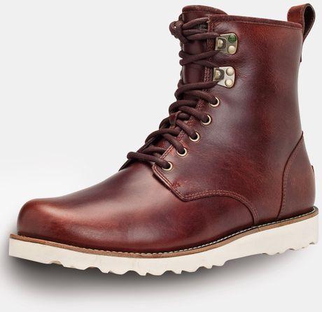 Mens leather gloves ugg - Ugg Cordonvan Ugg Australia Hannen Mens Lace Up Boots Product 1