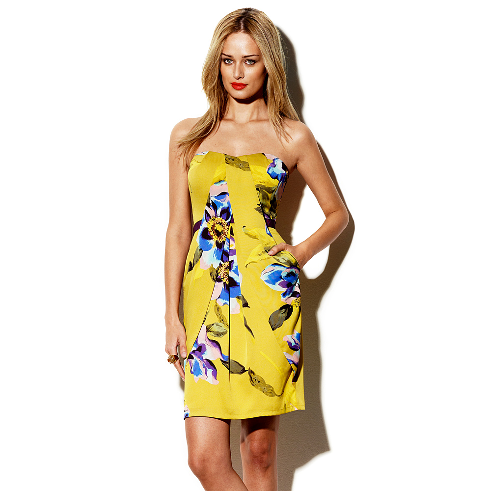 Lyst - Vince Camuto Summer Floral Strapless