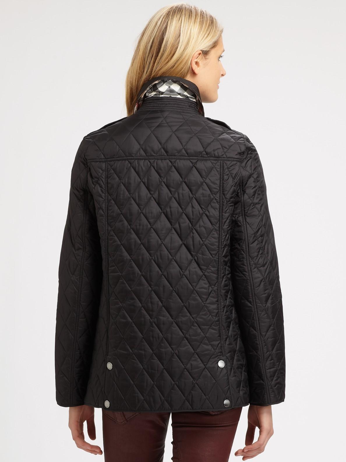 lyst burberry brit pirmont quilted jacket in black. Black Bedroom Furniture Sets. Home Design Ideas