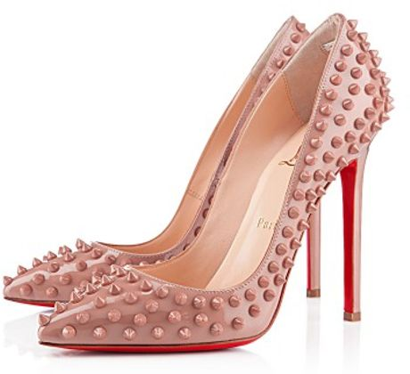 Christian Louboutin Pigalle Spikes in Pink