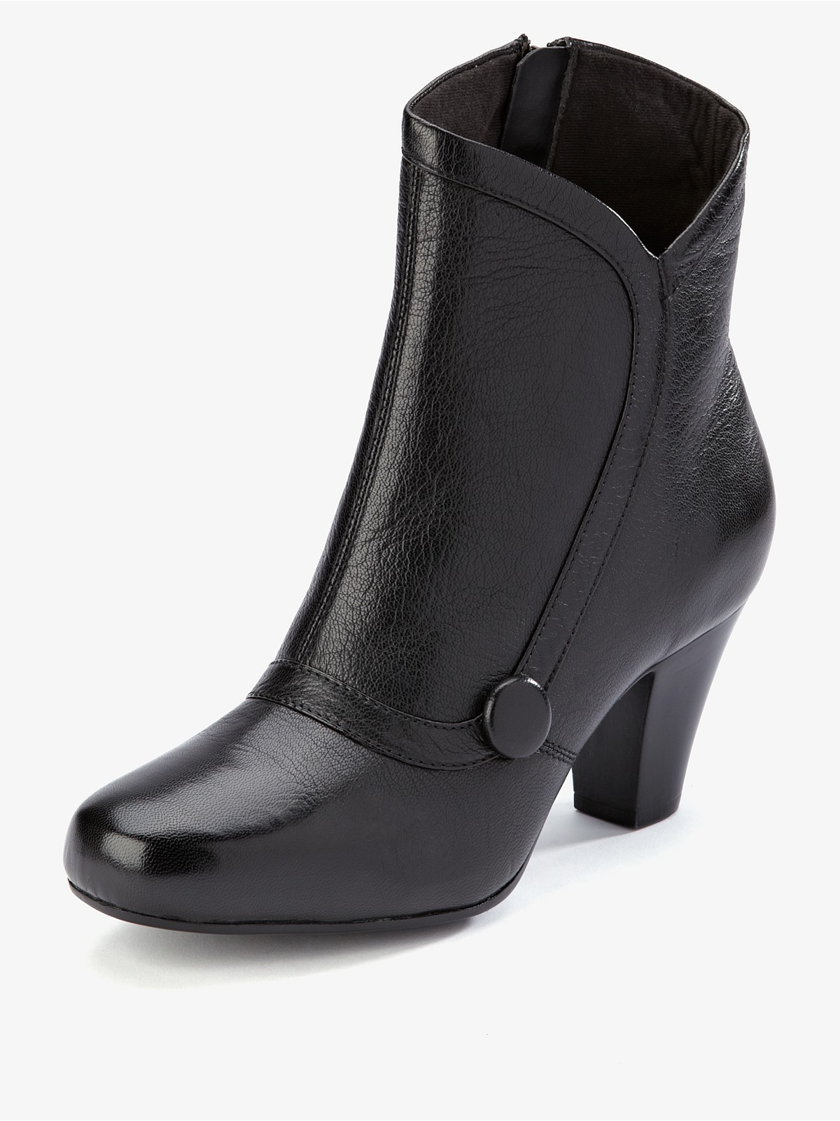 clarks leather lodge park ankle boots in black black