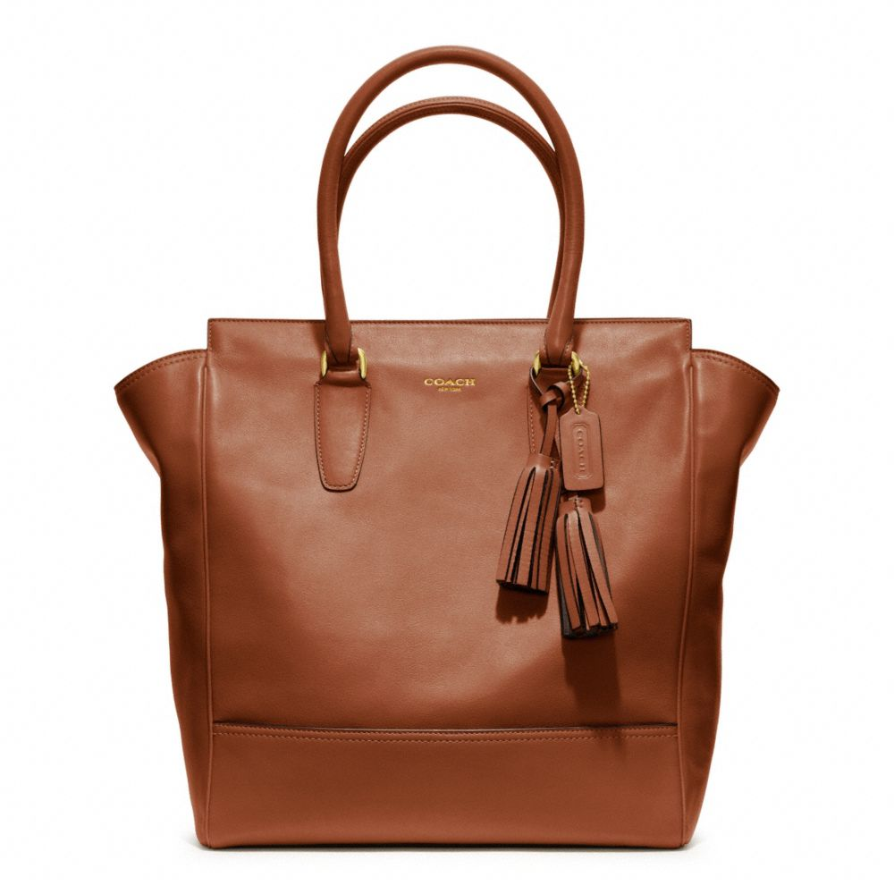 coach legacy leather tanner tote in brown brass cognac. Black Bedroom Furniture Sets. Home Design Ideas