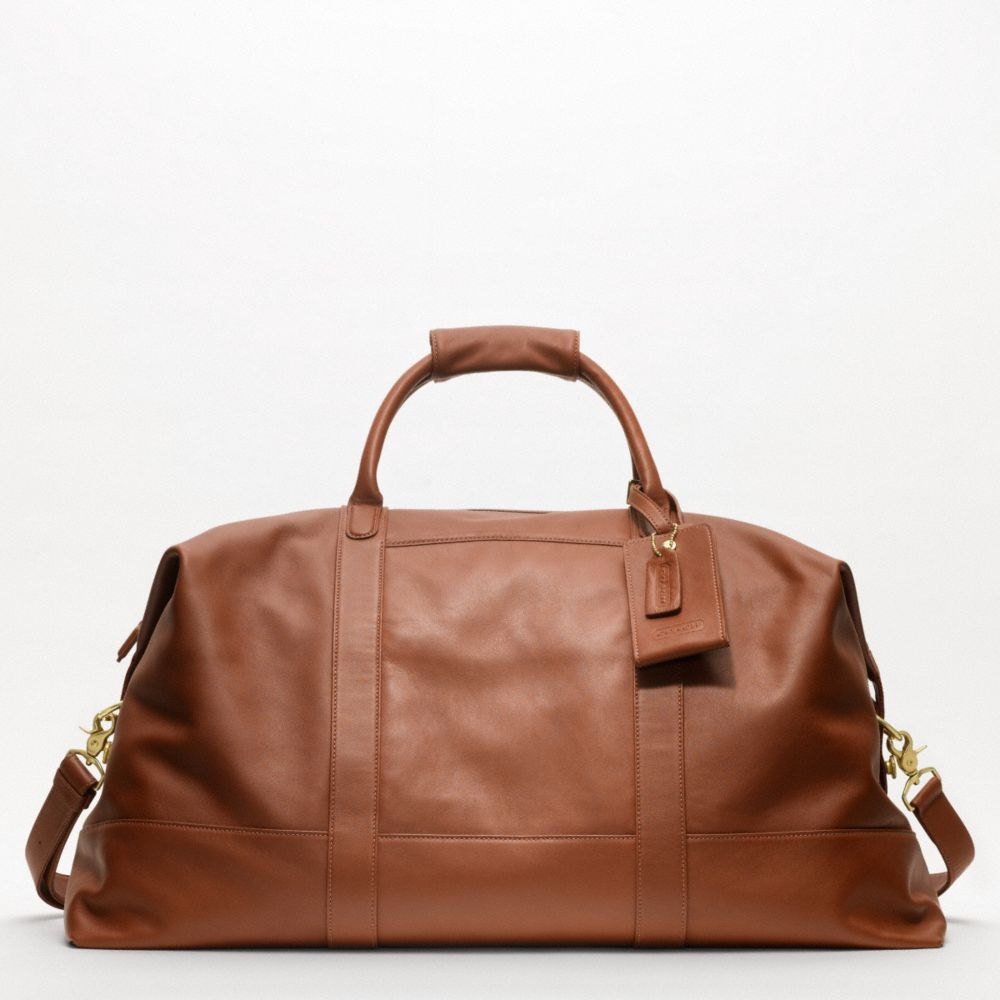 coach large cabin bag in brown for men lyst