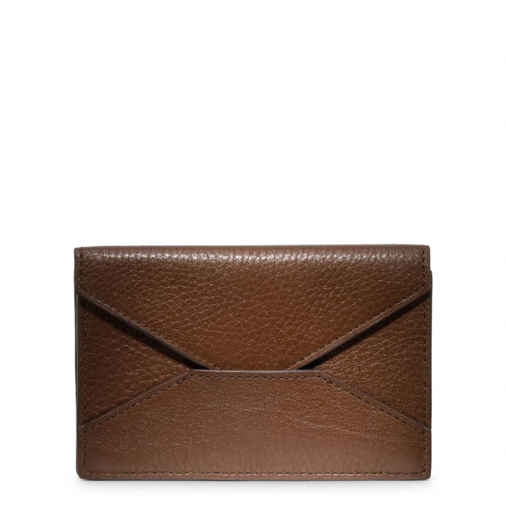 Coach Crosby Leather Business Card Case in Brown for Men