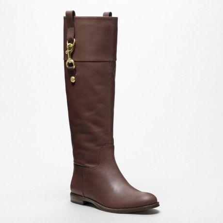 coach martta boot in brown chestnut lyst