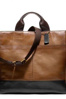 Coach Bleecker Leather Colorblock Utility Tote - Lyst