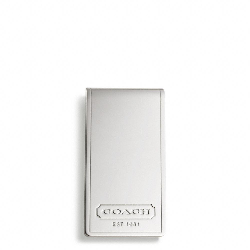 8616fe49 COACH Metallic Basic Metal Money Clip for men