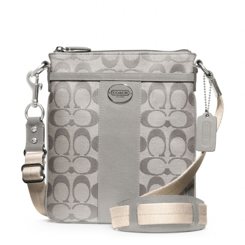 lyst coach legacy signature swingpack in gray