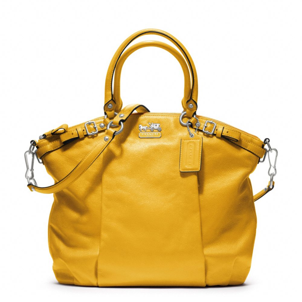 9f6039552c ... 50% off lyst coach madison leather lindsey satchel in yellow 7add5 0a1f8