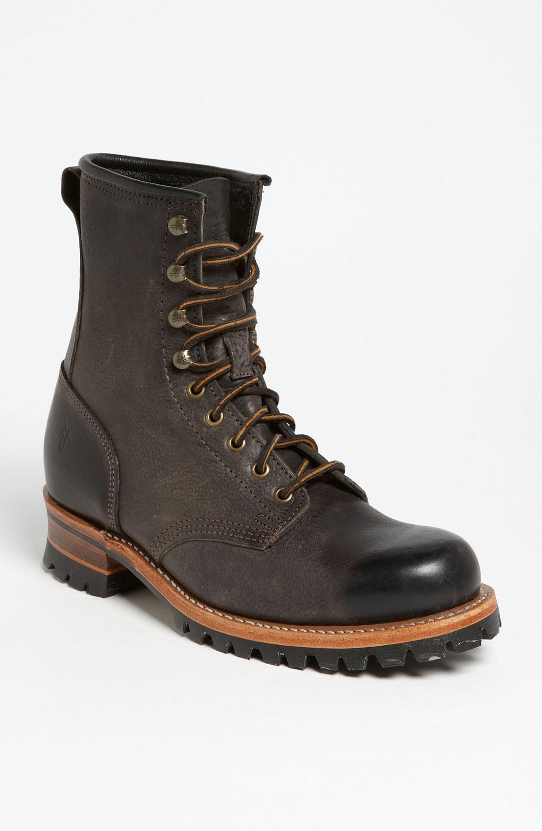 Frye Logger Boot In Brown For Men Dark Brown Lyst