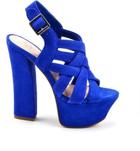Jessica Simpson Petra High Heels In Blue Blue Iris Lyst