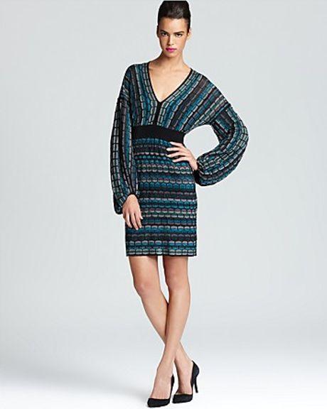 Laundry By Shelli Segal Sweater Dress Long Sleeve Multi ...