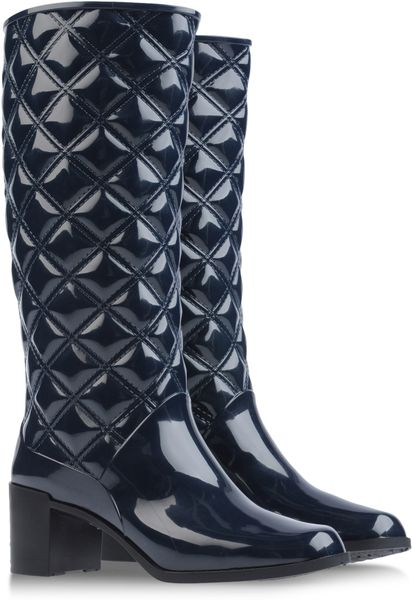 Marc Jacobs Quilted Wellies in Blue (dark blue) - Lyst