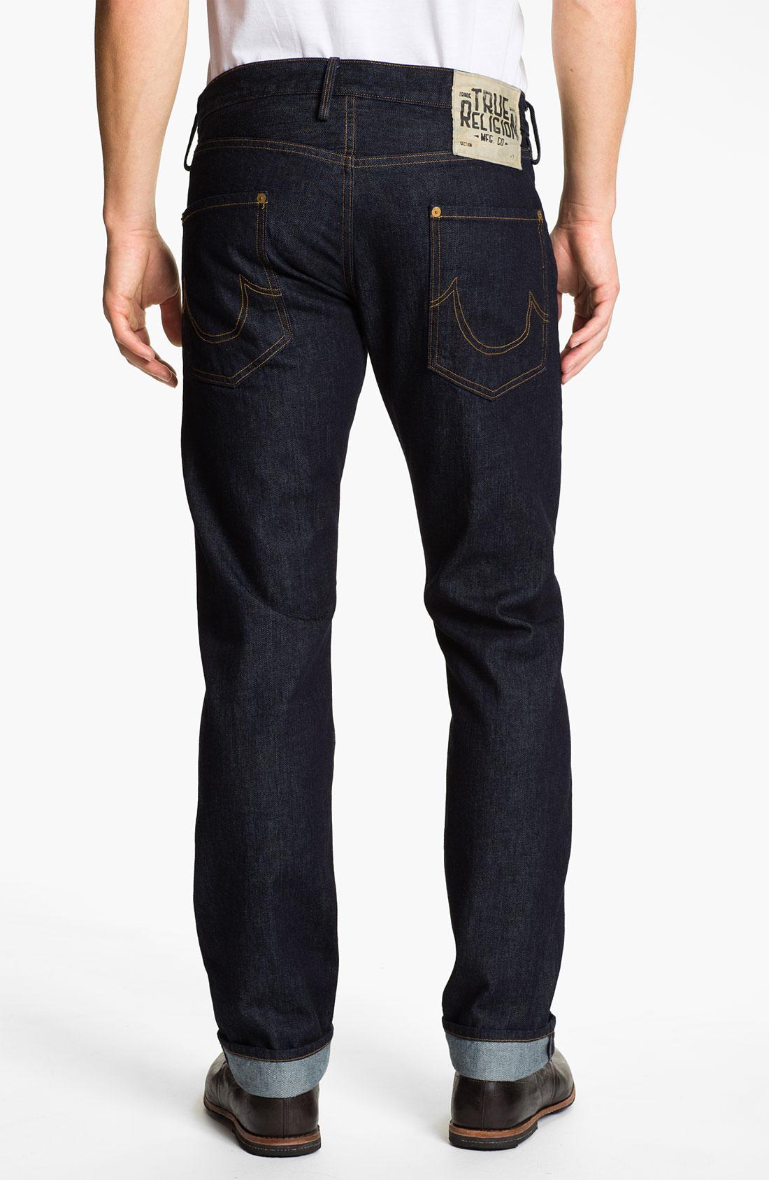 true religion geno slim straight leg jeans in blue for men. Black Bedroom Furniture Sets. Home Design Ideas