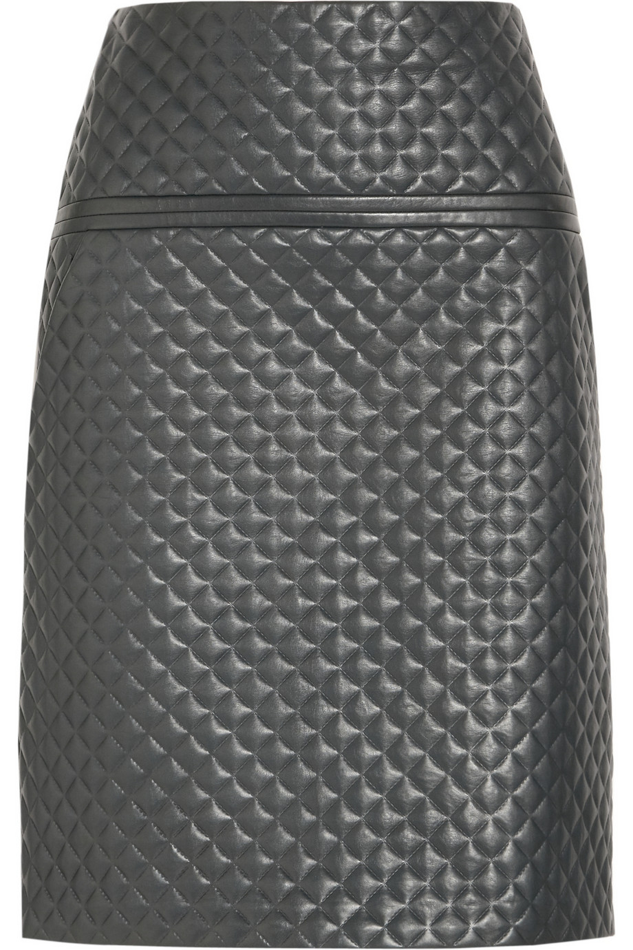 chlo 233 quilted leather skirt in green lyst