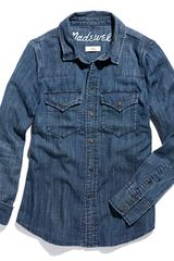 Madewell Western Jean Shirt in Nightsky Wash