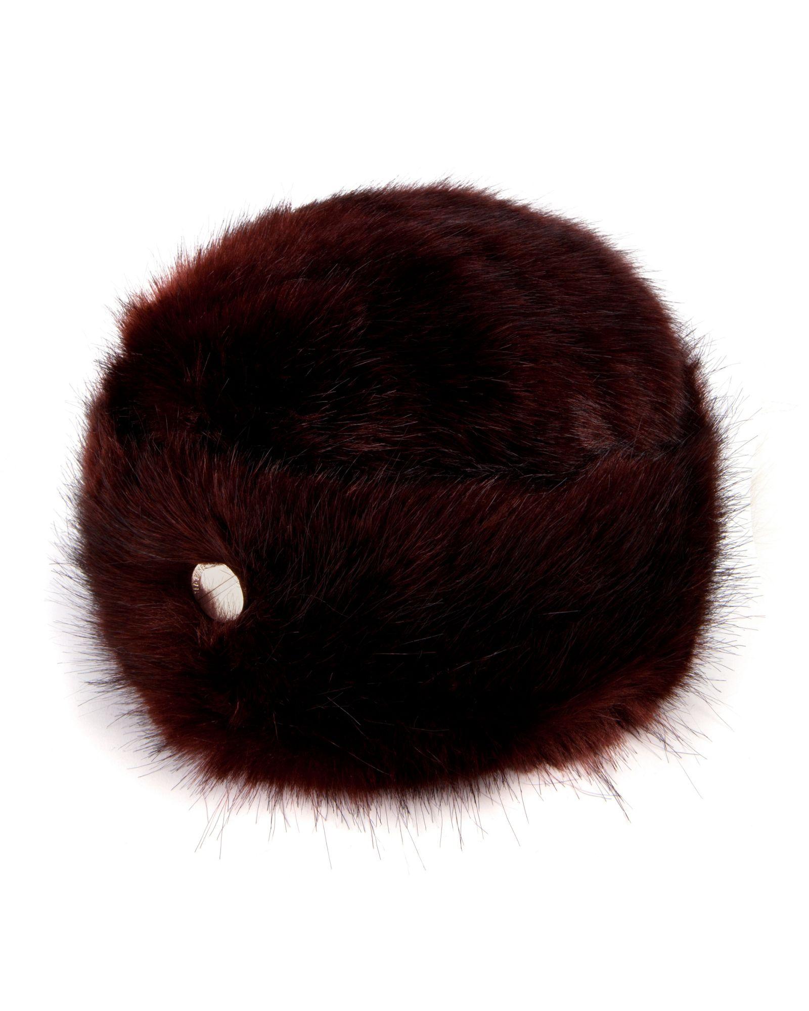 Ted Baker Bondy Faux Fur Hat In Red Lyst