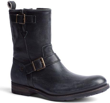 tommy hilfiger darryl ankle boots in black for men washed black. Black Bedroom Furniture Sets. Home Design Ideas