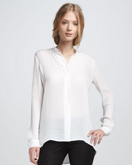 Silk White Blouse 115