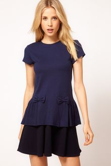 ASOS Collection Asos Top with Peplum and Bow Detail - Lyst