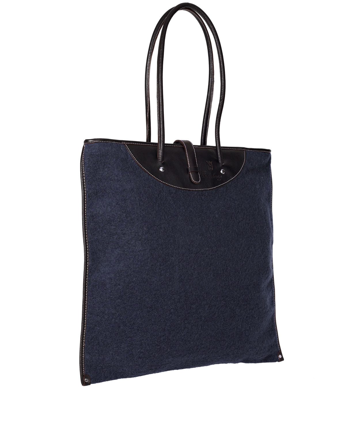 Calabrese Bags Navy Rotolo Boiled Wool Tote Bag in Blue for Men