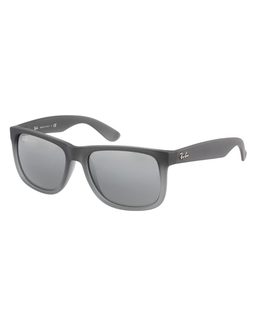 Lyst Ray Ban Wayfarer Sunglasses In Gray For Men
