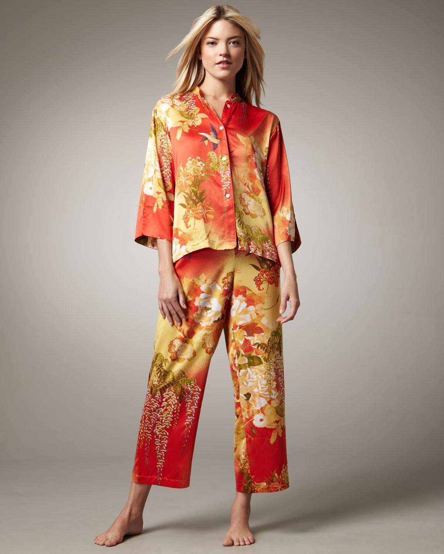 Natori Fuji Floralprint Pajamas | Lyst