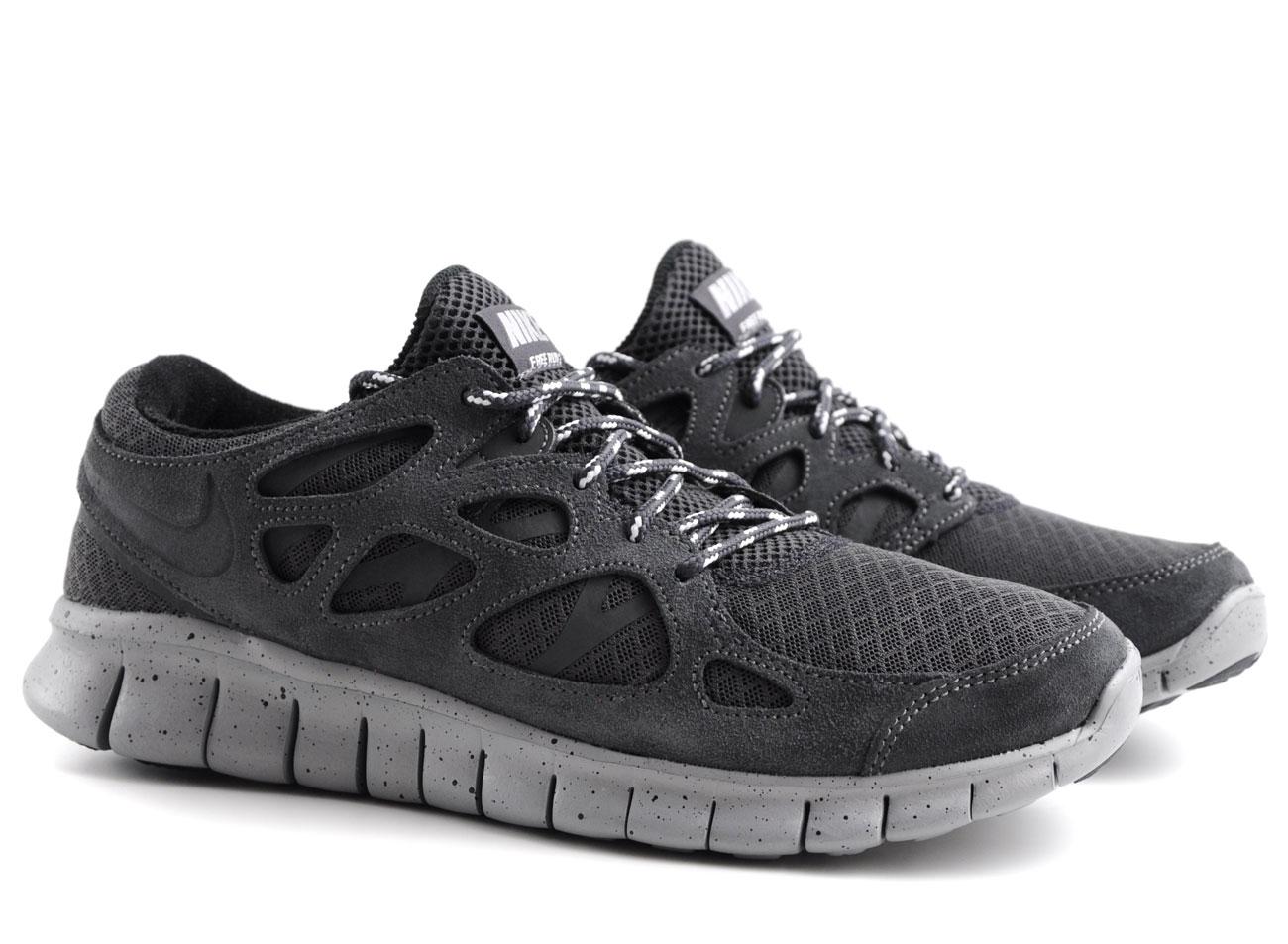 nike free run 2 black grey