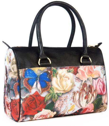 1b282ca86 Ted Baker Souari Floral Printed Bowler Bag in Floral (black)