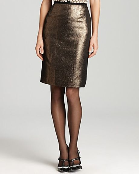 Tory Burch Brandy Skirt in Gold (black)
