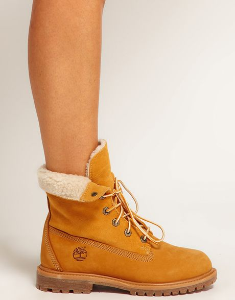 timberland authentics teddy fleece fold lace up boot