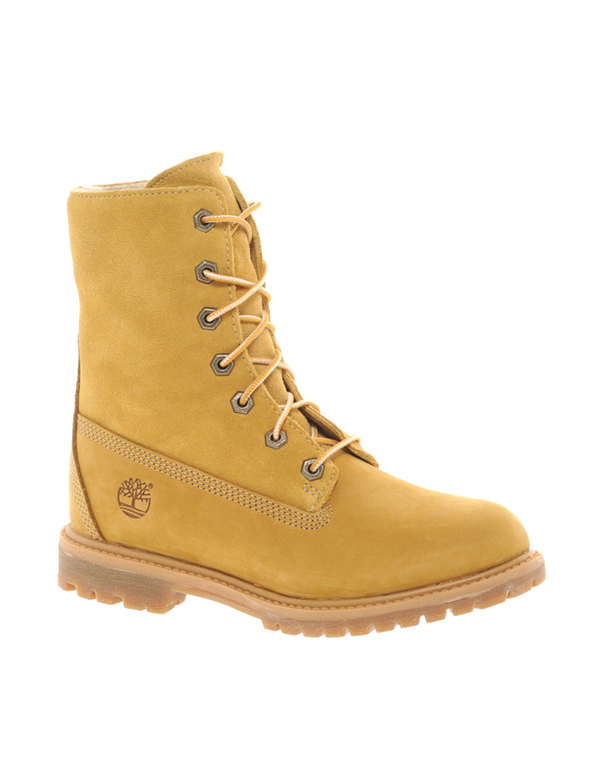 Awesome Timberland Womenu0026#39;s Open Weave 6u0026quot; Boots In Yellow (Wheat) | Lyst