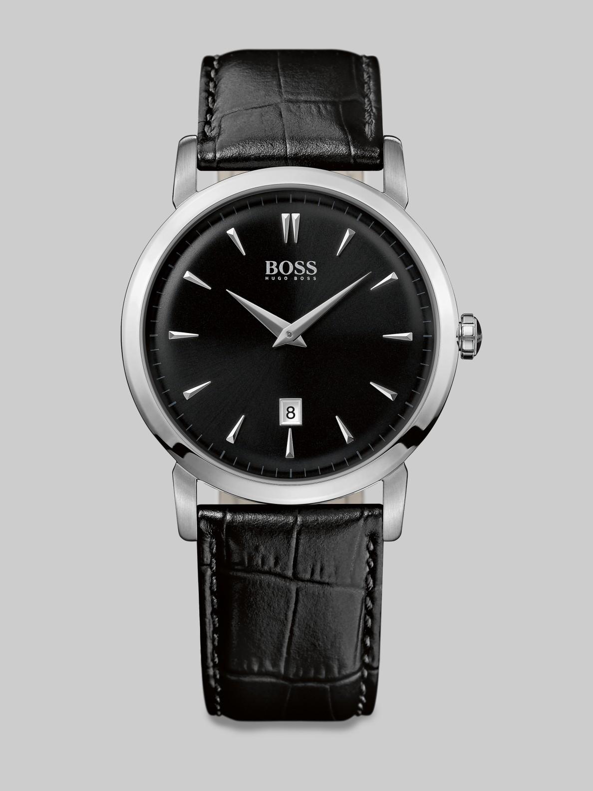 Boss Black Ultra Slim Watch In Black For Men Lyst
