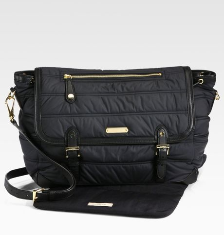 Burberry Nylon Messenger Diaper Bag in Black | Lyst