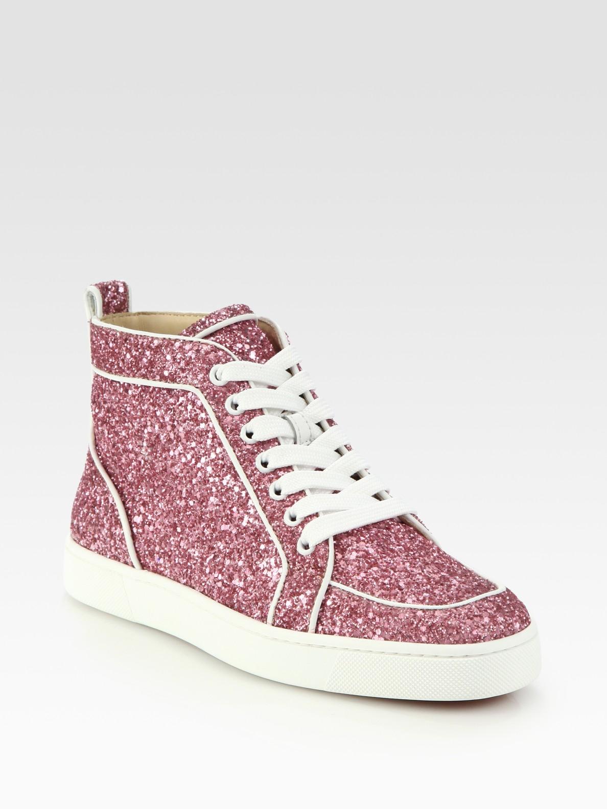 fba4c537583 free shipping christian louboutin glitter sneakers 701cf 355f1
