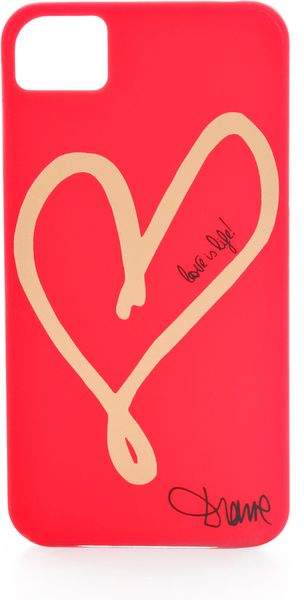 Diane Von Furstenberg Hearts Iphone 4 Case - Lyst