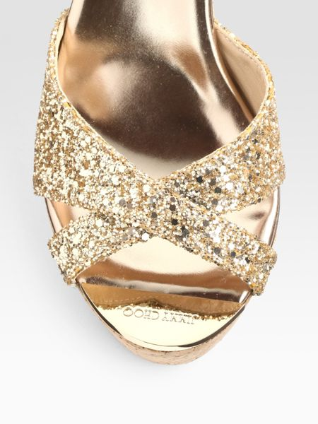 Glitter Wedge Sandal Glitter Cork Wedge Sandals
