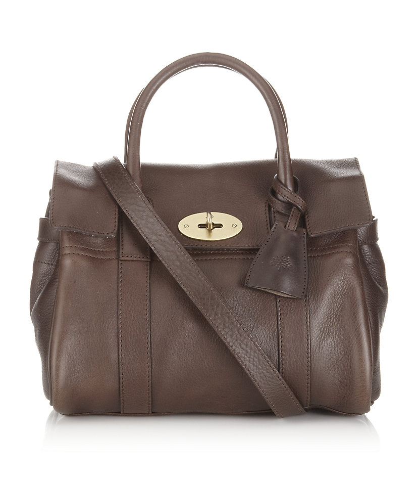 5a7fe0265879 Mulberry Chocolate Small Bayswater Satchel in Brown - Lyst