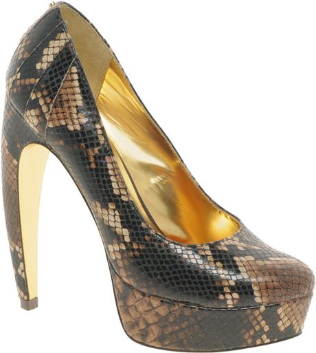 ted baker sawp platform court shoes in brown