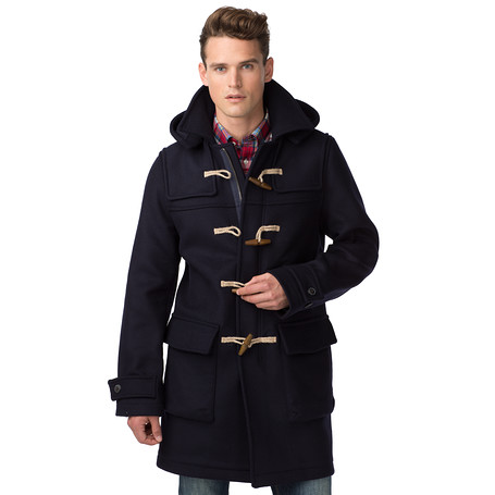 tommy hilfiger tommy duffle coat in blue for men lyst. Black Bedroom Furniture Sets. Home Design Ideas